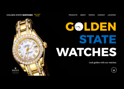 Golden State Watches Display