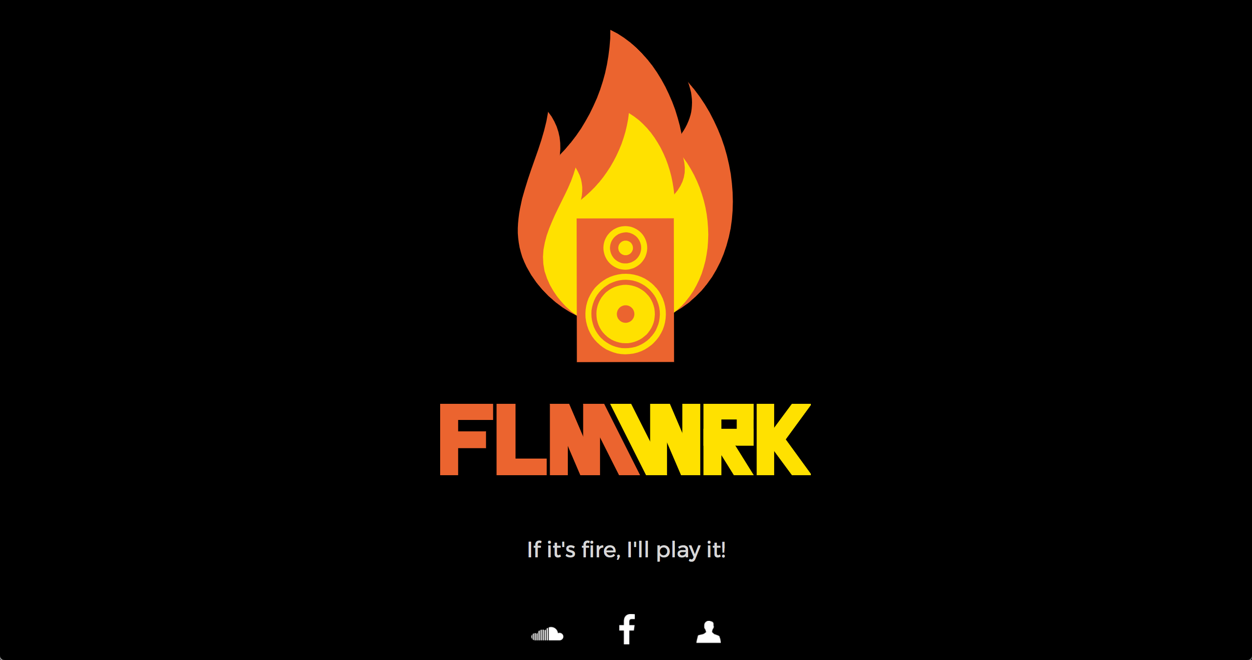 Screenshot of FLMWRK Landing Page